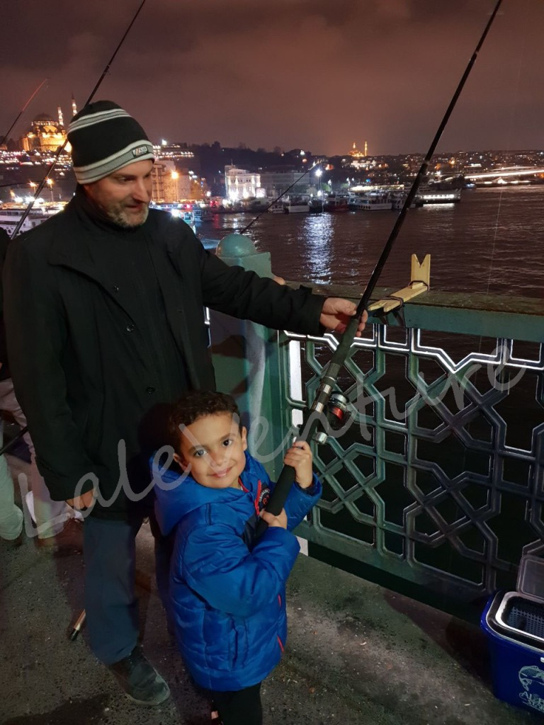 Galata bridge Fishermen Istanbul Kids Activities Turkey