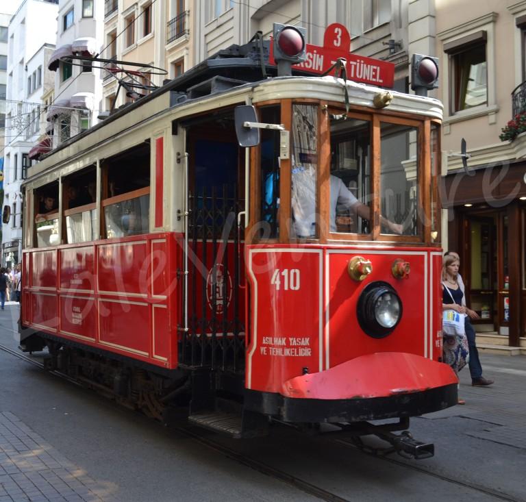 Nostalgic tram Istiklal street istanbul