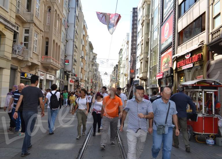 Crowds People Istiklal Street