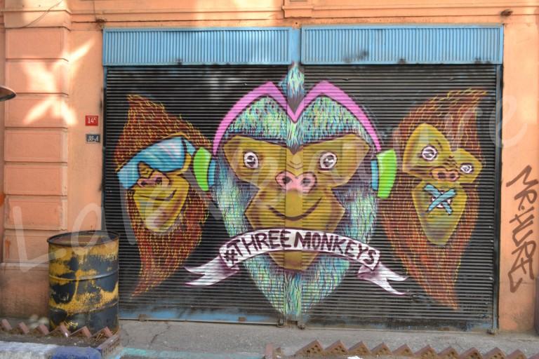 Graffiti Rolling Shutters in Karakoy
