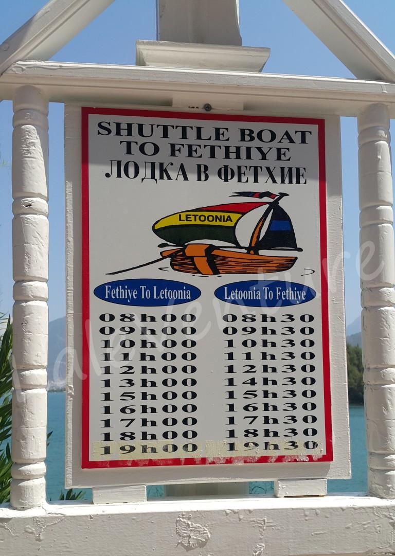 letoonia nakhal fethiye turkey laleventure sea activity water shuttle boat